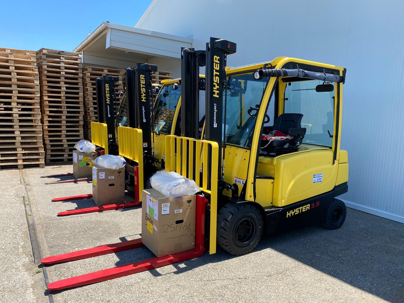 Tri nova čeona elektro viličara za klijenta iz drvne industrije